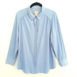Chico's Size 2 Large Button Front Blouse